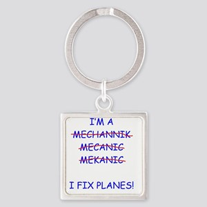 Planes Square Keychain