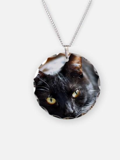 Sleek Black Cat Necklace