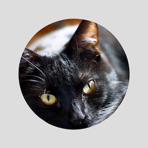 """Sleek Black Cat 3.5"""" Button"""