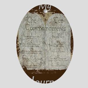 10 Commandments Journal Oval Ornament