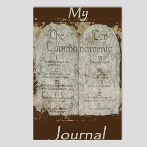 10 Commandments Journal Postcards (Package of 8)