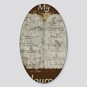 10 Commandments Journal Sticker (Oval)