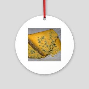 Golden Cheese Round Ornament