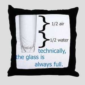 Glass 1-2 full Throw Pillow