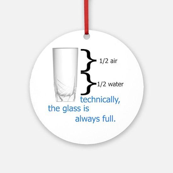Glass 1-2 full Round Ornament