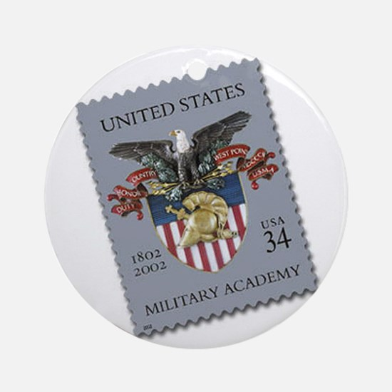 USMA Stamp Round Ornament