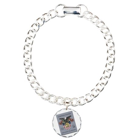 USMA Stamp Charm Bracelet, One Charm