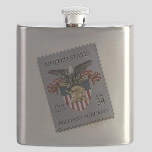 USMA Stamp Flask