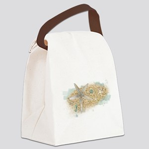 Sea Treasure Canvas Lunch Bag