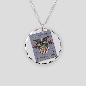 USMA Stamp Necklace Circle Charm