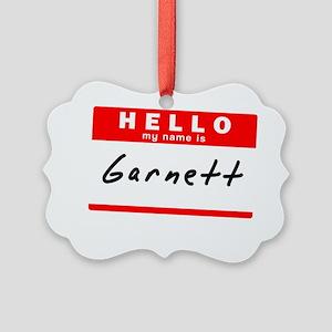 Garnett Picture Ornament