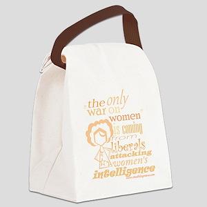 waronwomenpeach Canvas Lunch Bag