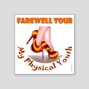 """PhysicalYouthFemFrnt_LtShrt Square Sticker 3"""" x 3"""""""