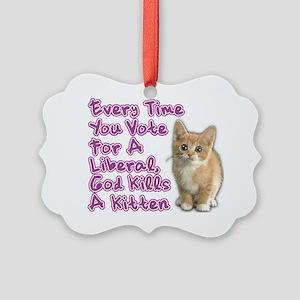 god_kills_a_kittenOL Picture Ornament