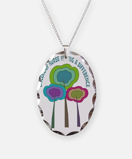 oncology nurse CP NO BACKGROUN Necklace