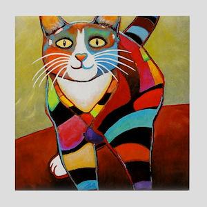 catColorsNew Tile Coaster