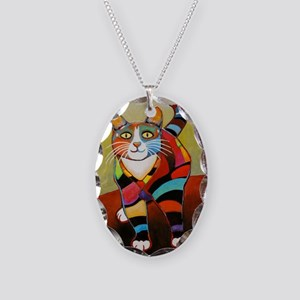 catColorsNew Necklace Oval Charm