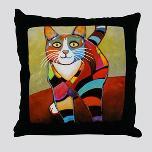 catColorsNew Throw Pillow