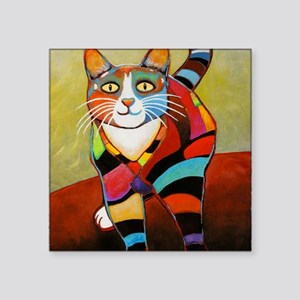 """catColorsNew Square Sticker 3"""" x 3"""""""
