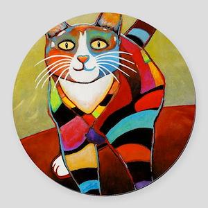 catColorsNew Round Car Magnet