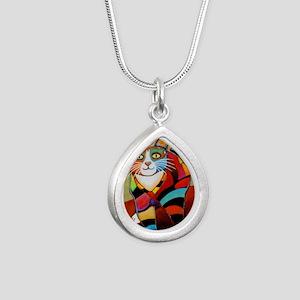 catColorsNew Silver Teardrop Necklace