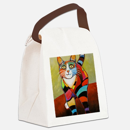 catColorsNew Canvas Lunch Bag