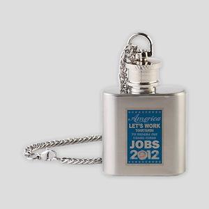 Barack Obama for President poster a Flask Necklace