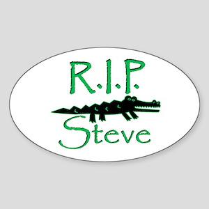 R.I.P. Steve Oval Sticker