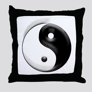 Yin Yang Dragons Throw Pillow