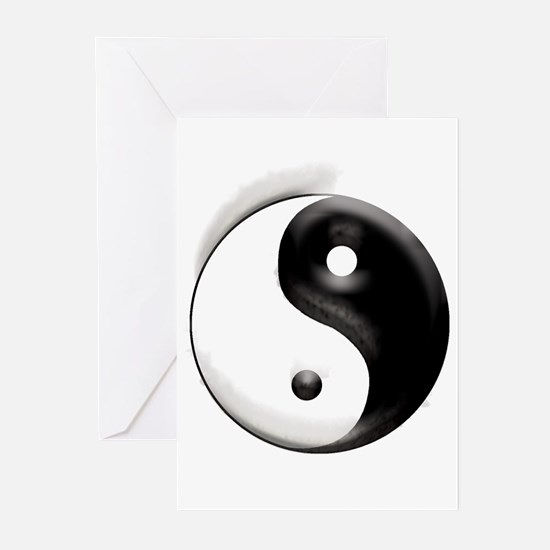 Yin Yang Dragons Greeting Cards (Pk of 10)