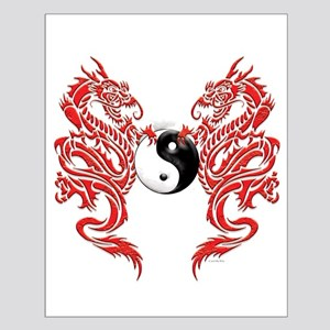 Yin Yang Dragons Small Poster