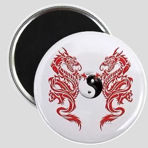 Yin Yang Dragons Magnet