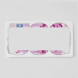 500 Euros License Plate Holder