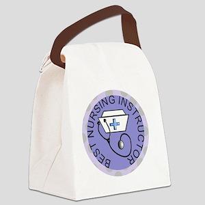 BEST NURSING INSTRUC CLOCK blue Canvas Lunch Bag