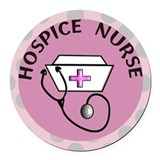 Hospice Round Car Magnets