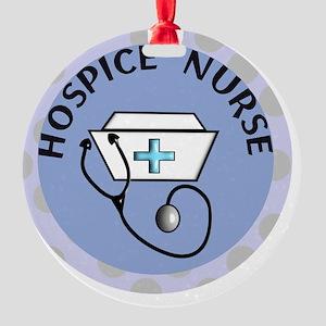 cp hospice nurse round blue Round Ornament