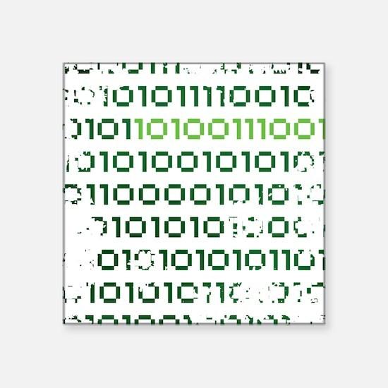 "binary-1337-01c-cafepress Square Sticker 3"" x 3"""