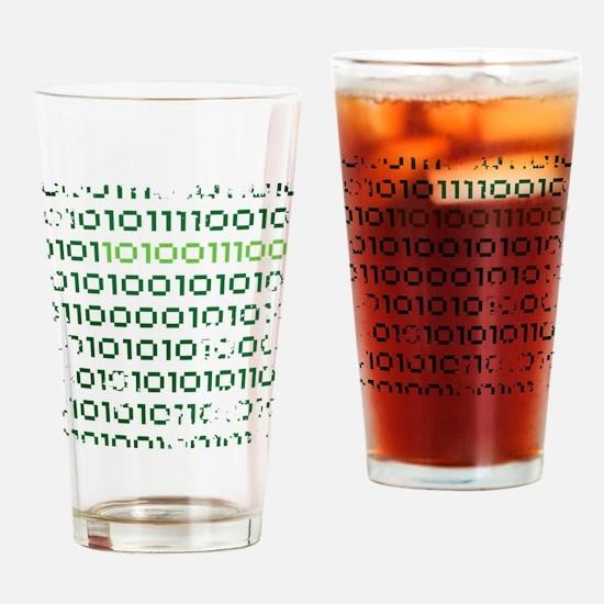 binary-1337-01c-cafepress Drinking Glass