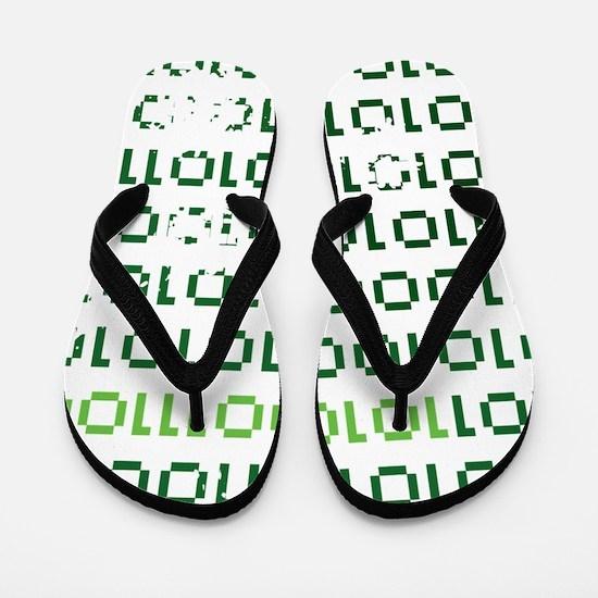 binary-1337-01c-cafepress Flip Flops