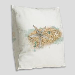 Sea Treasure Burlap Throw Pillow