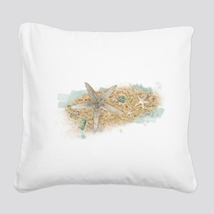 Sea Treasure Square Canvas Pillow