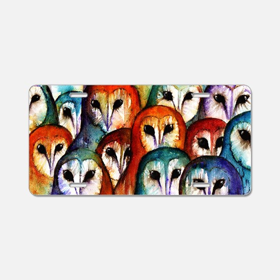 Owl Audience Aluminum License Plate