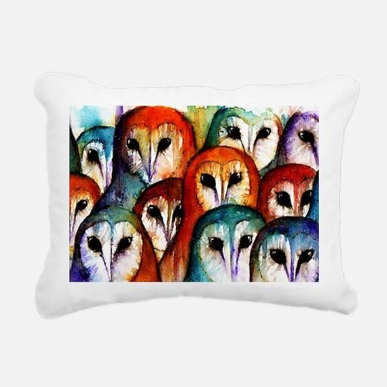 Owl Audience Rectangular Canvas Pillow