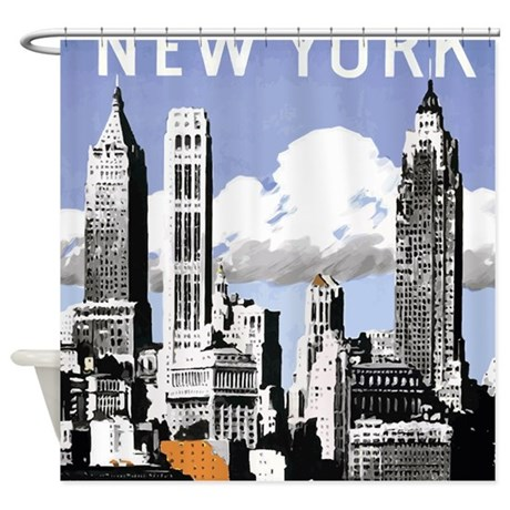 Vintage New York2 Shower Curtain