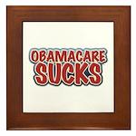 Obamacare Sucks Framed Tile