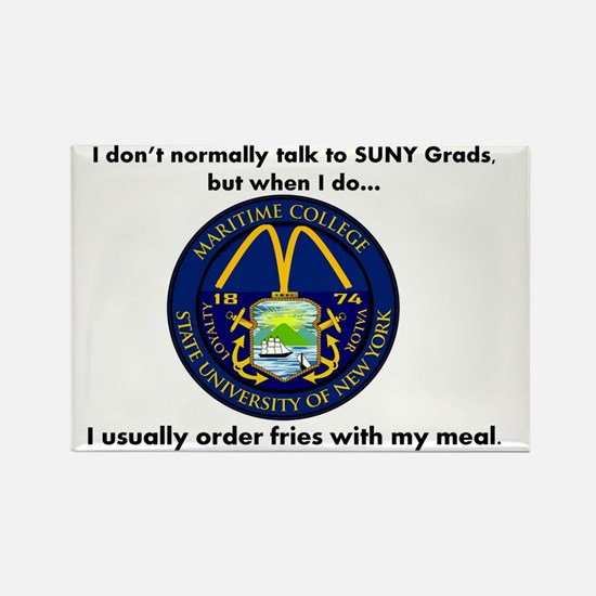 SUNY French Fries Rectangle Magnet