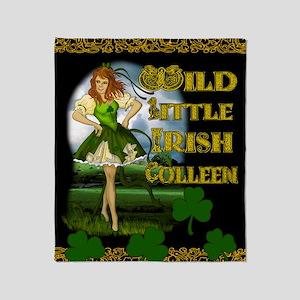 WILD-LITTLE-IRISH-COLLEEN-11x17_prin Throw Blanket