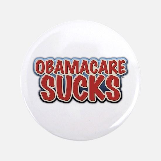 """Obamacare Sucks 3.5"""" Button"""