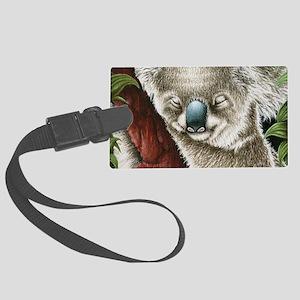 Koala Sleeping (shoulder bag) Large Luggage Tag