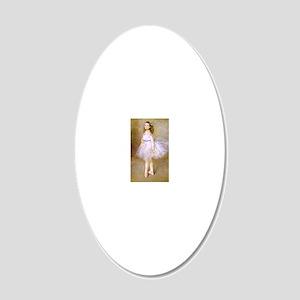 renoir dancer 20x12 Oval Wall Decal
